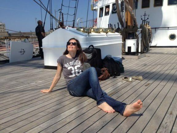 Yacht broker at work