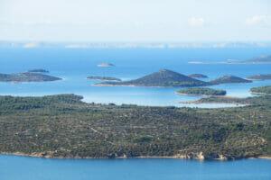 View over the Kornati Islands