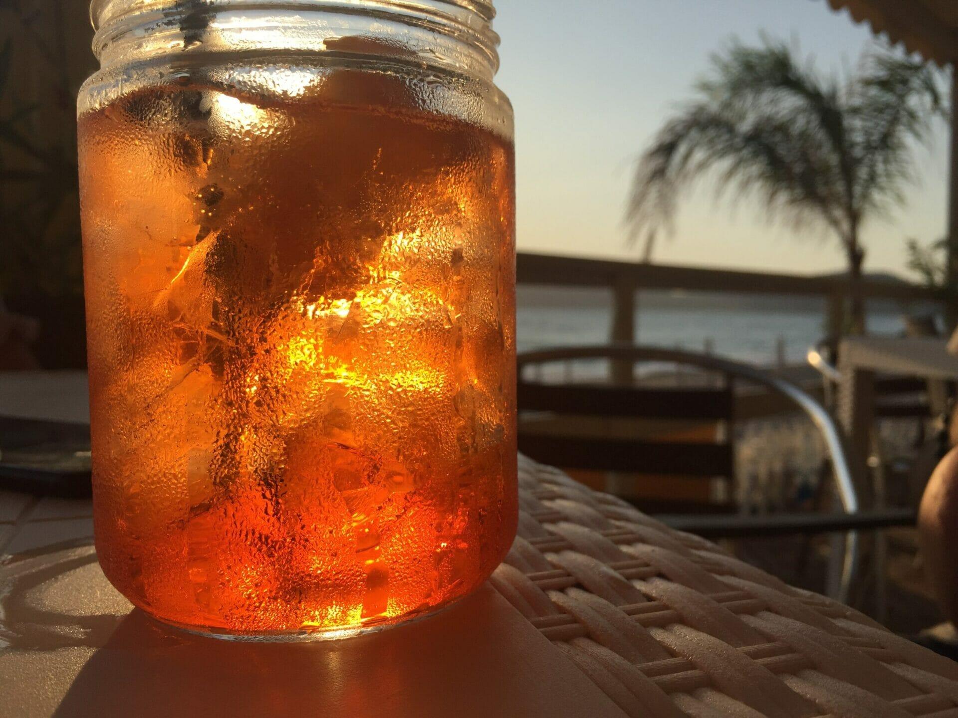 Sunset beach cocktail