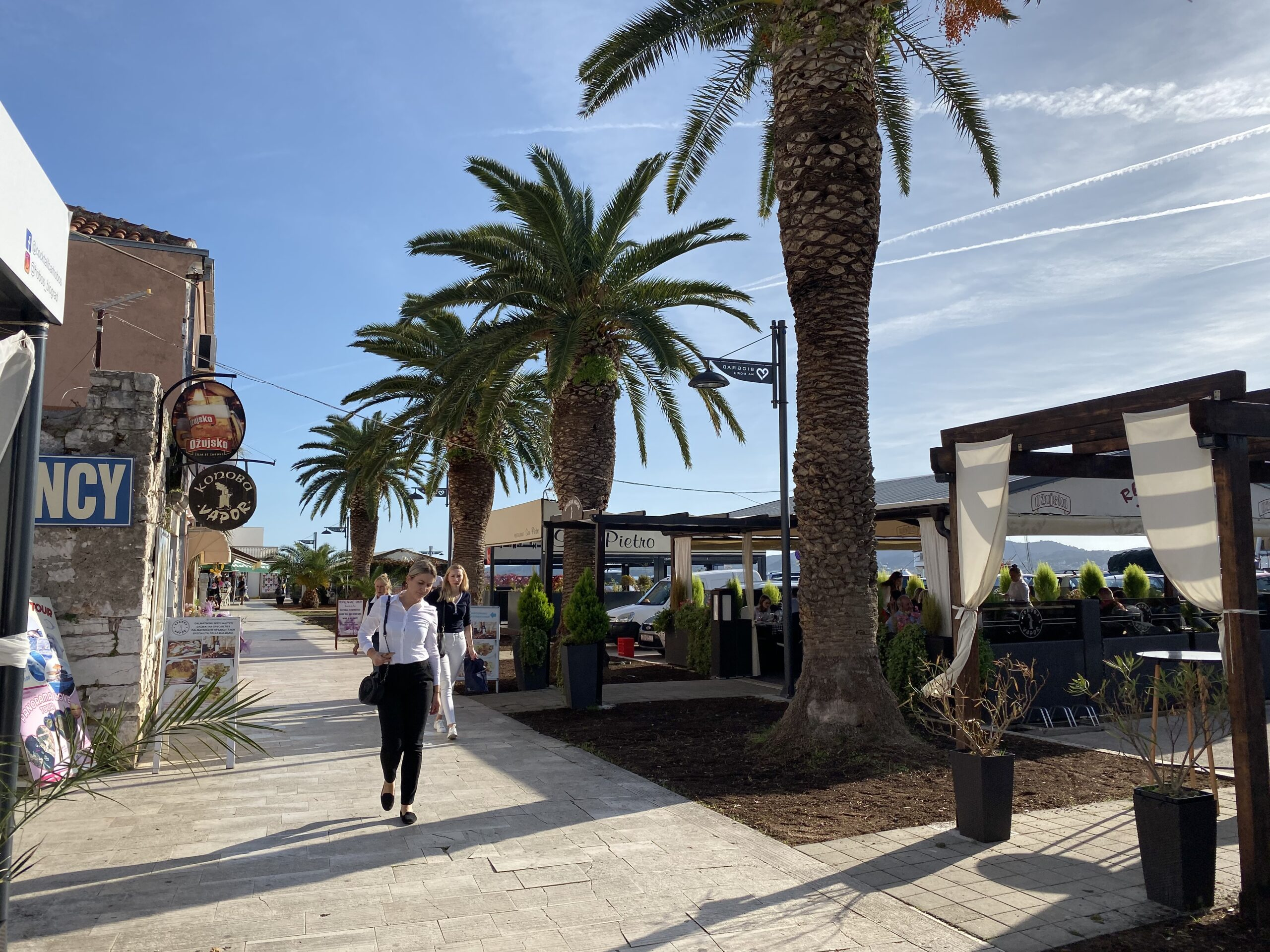 Biograd promenade