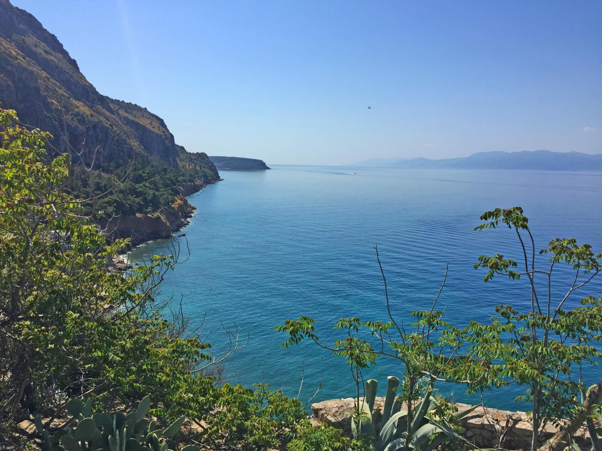 Nafplio view over the Pelopones