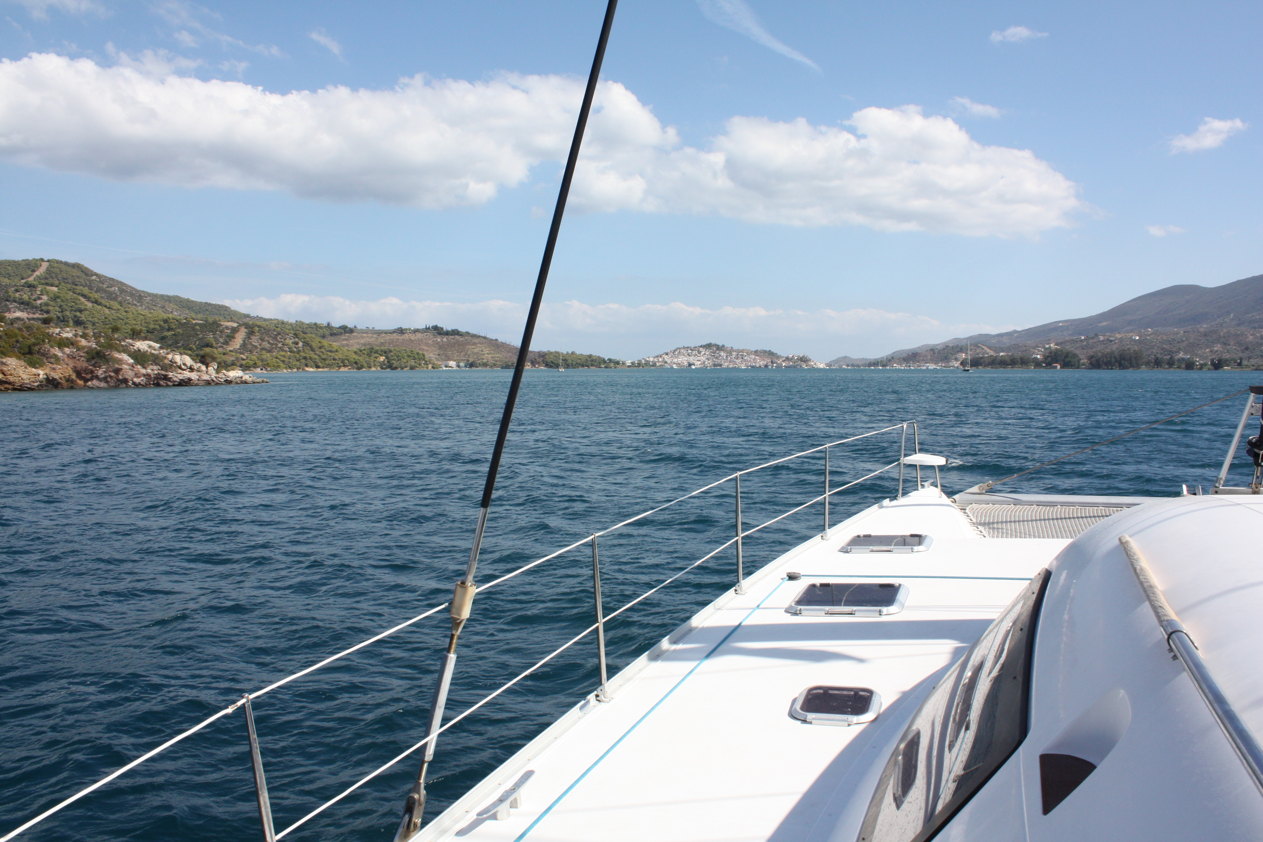 Poros view from the boat