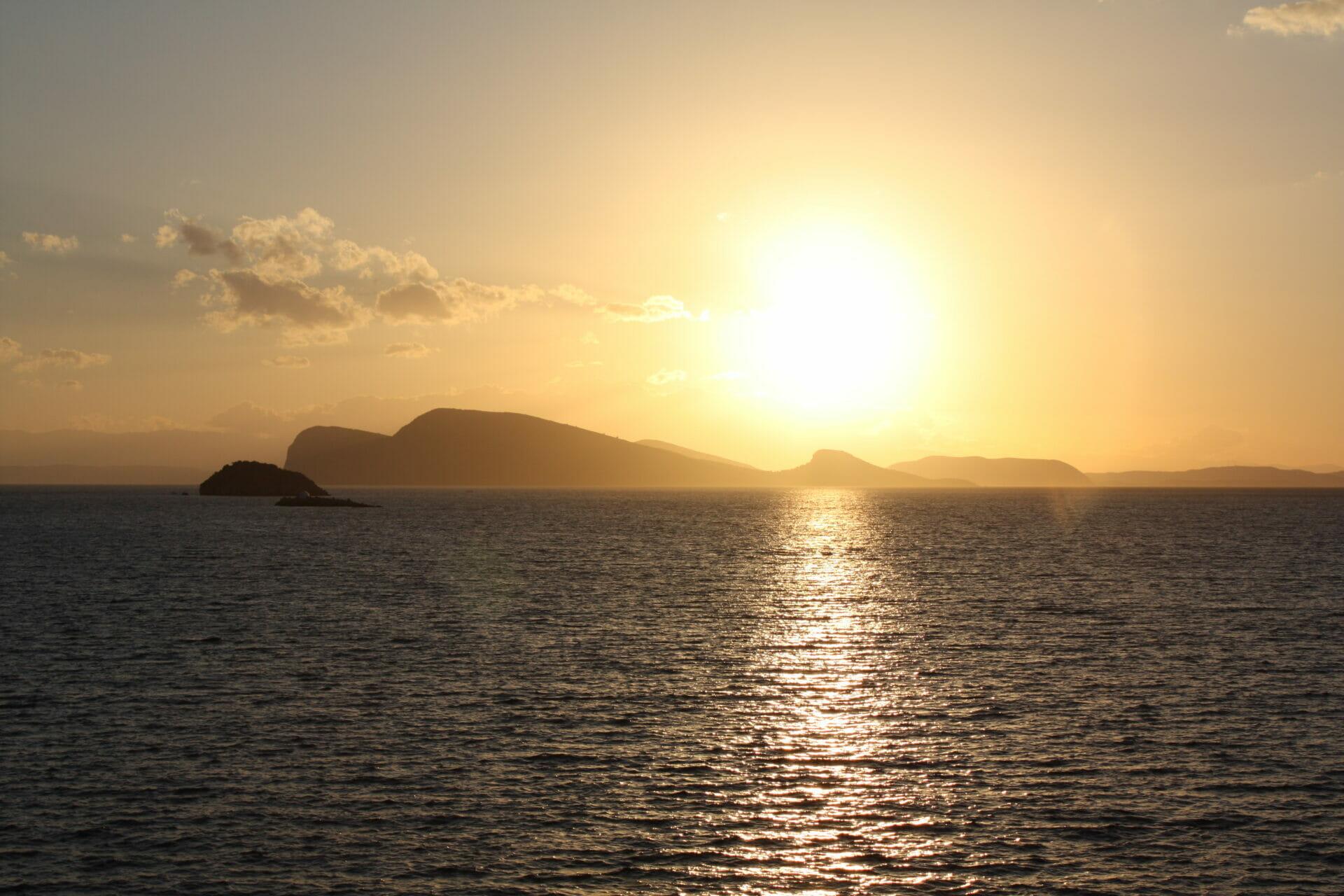 Sunset from Hydroneta bar in Hydra