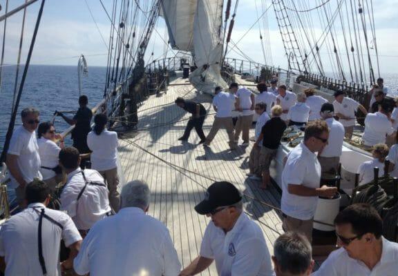 Luxury charter vessel