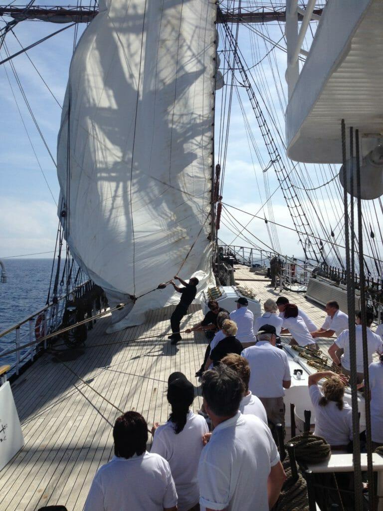 Luxury sailing vessel