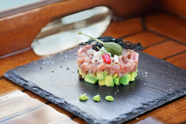 Fish and avocado tartare