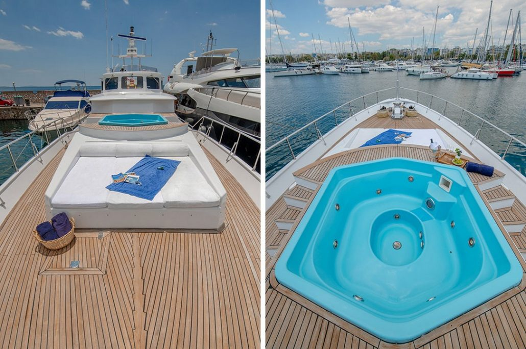 Motoryacht Alaya 3 - Deck Jacuzzi