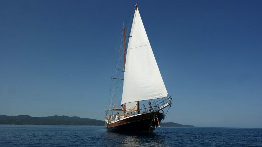 La Reine - during navigation
